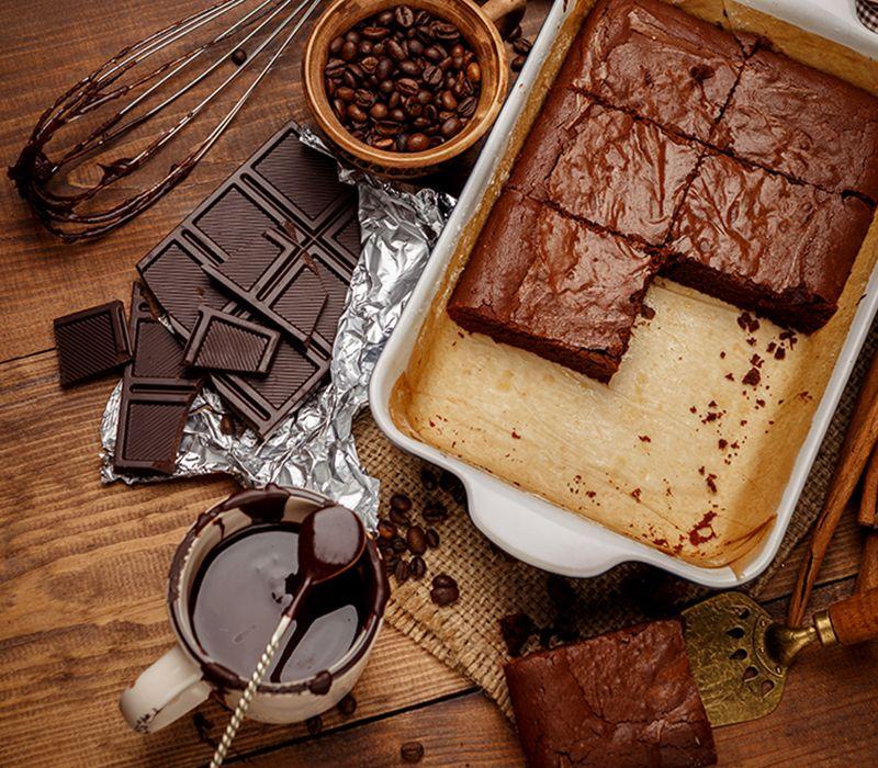 Kaffe- og sjokoladekake
